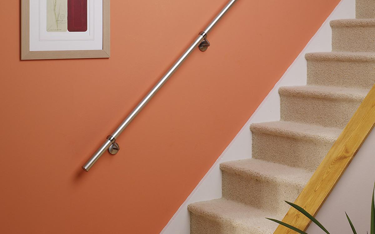 Wall Mounted Metal Handrail Jackson Woodturners