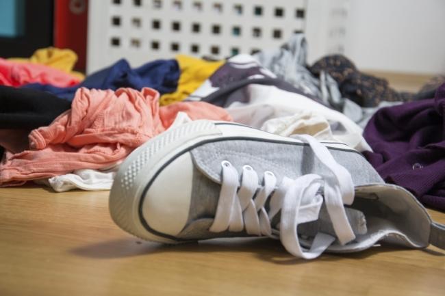 Discarded sneaker