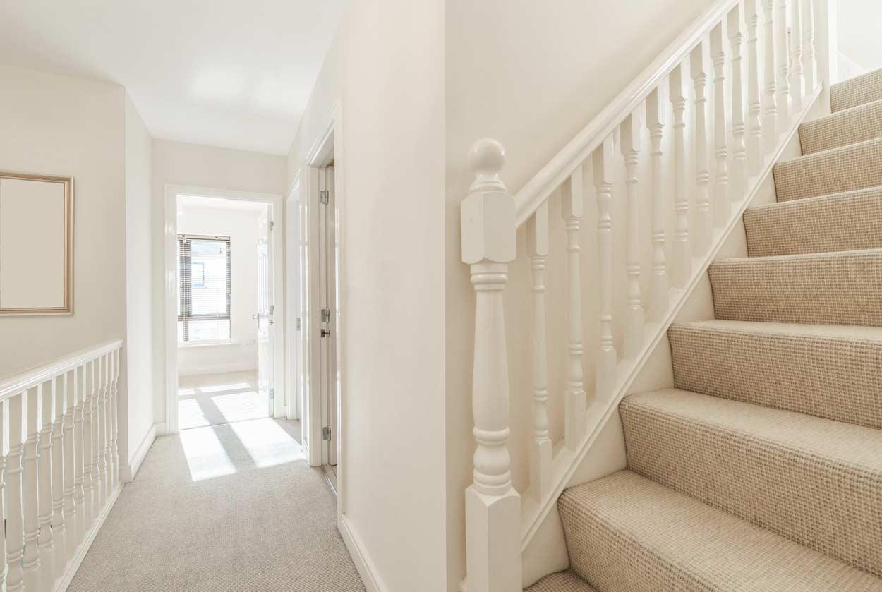 cream staircase