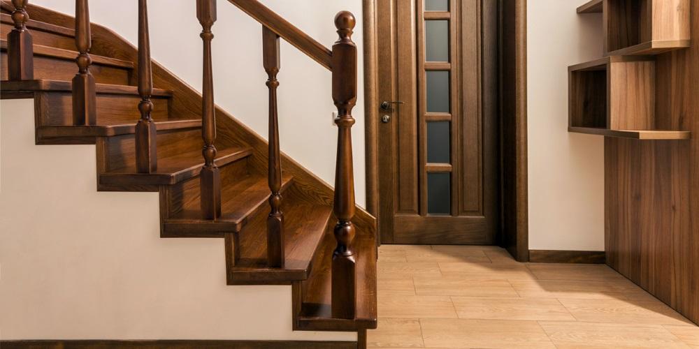 dark wood stairs